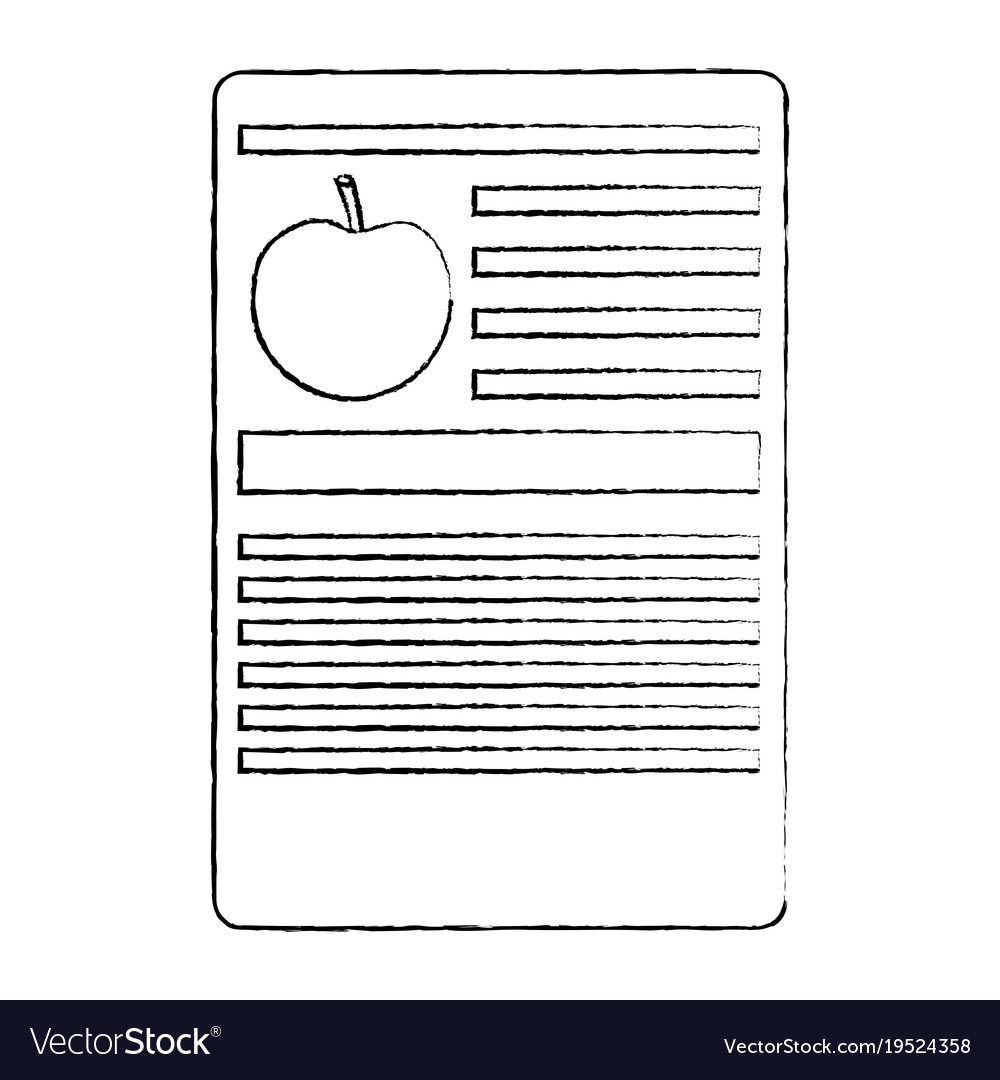 apple nutrition facts label template royalty free vector