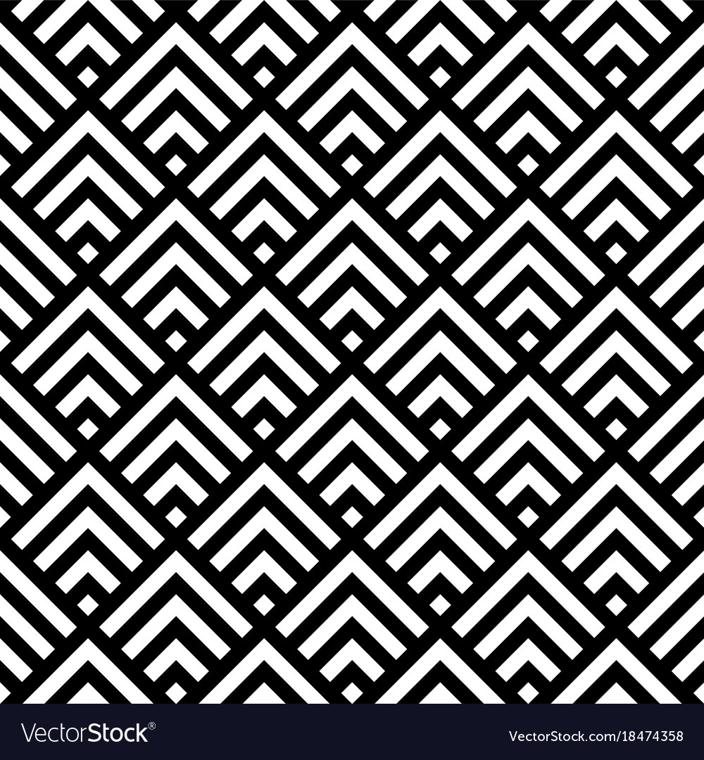 Black and white retro style pattern seamless