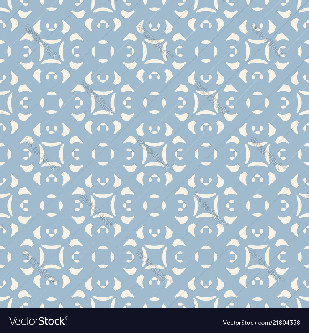 Blue ornamental floral seamless pattern geometric