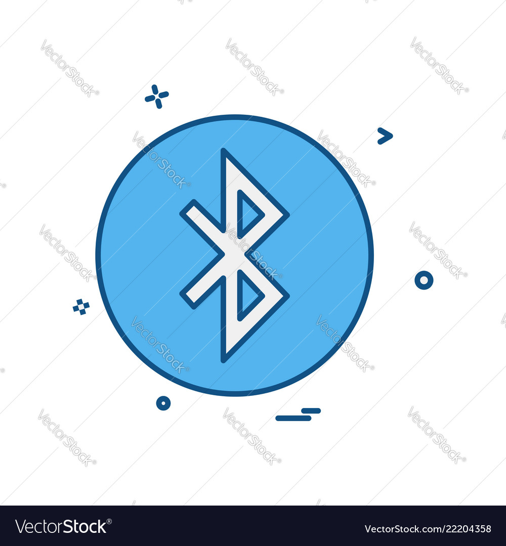 Bluetooth Icon Design Royalty Free Vector Image