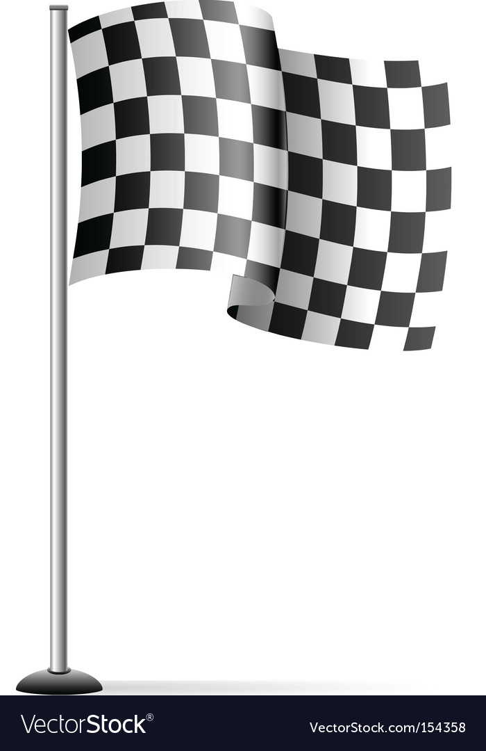 checkered flag royalty free vector image vectorstock