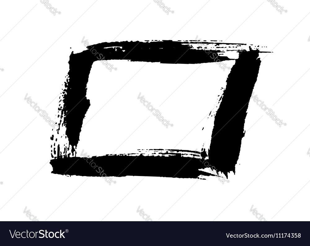 Grunge background rectangle black