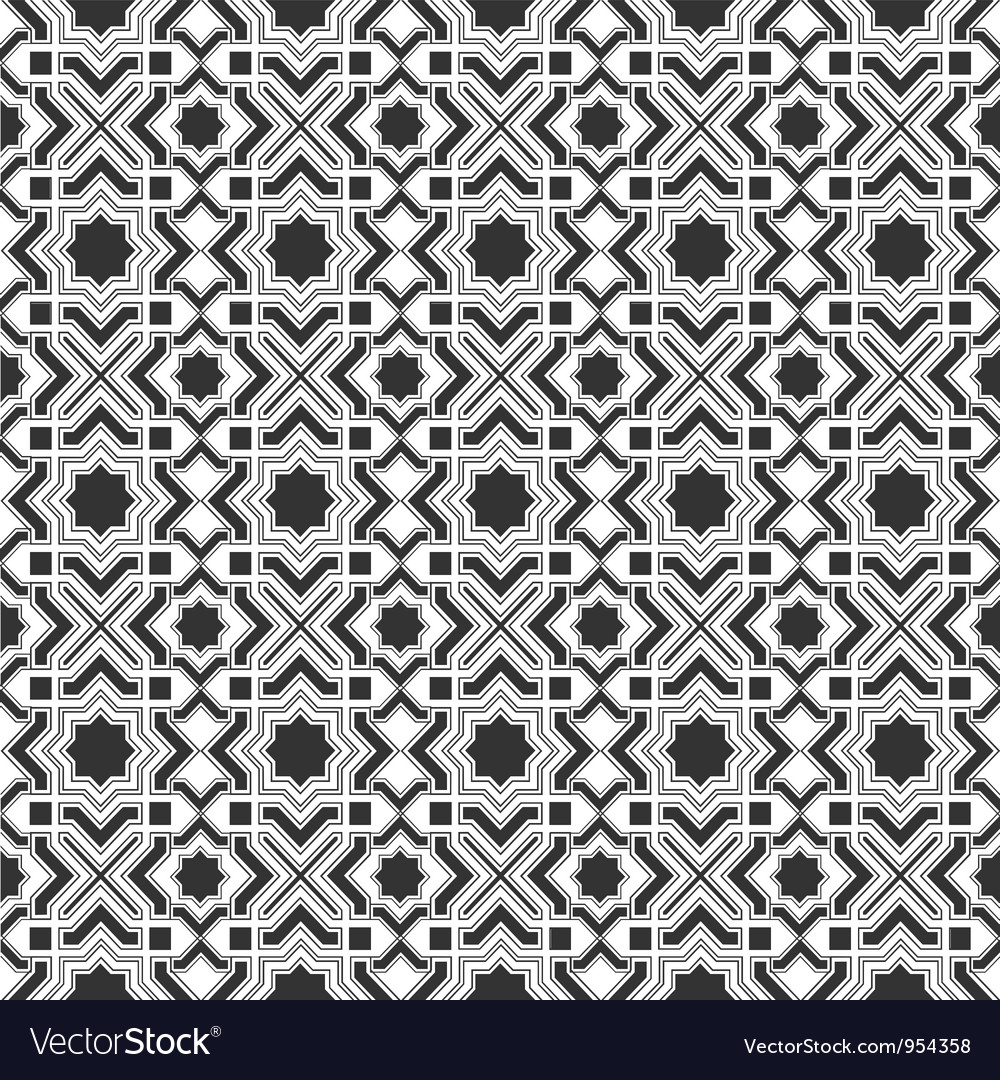 Monochromic Islamic pattern