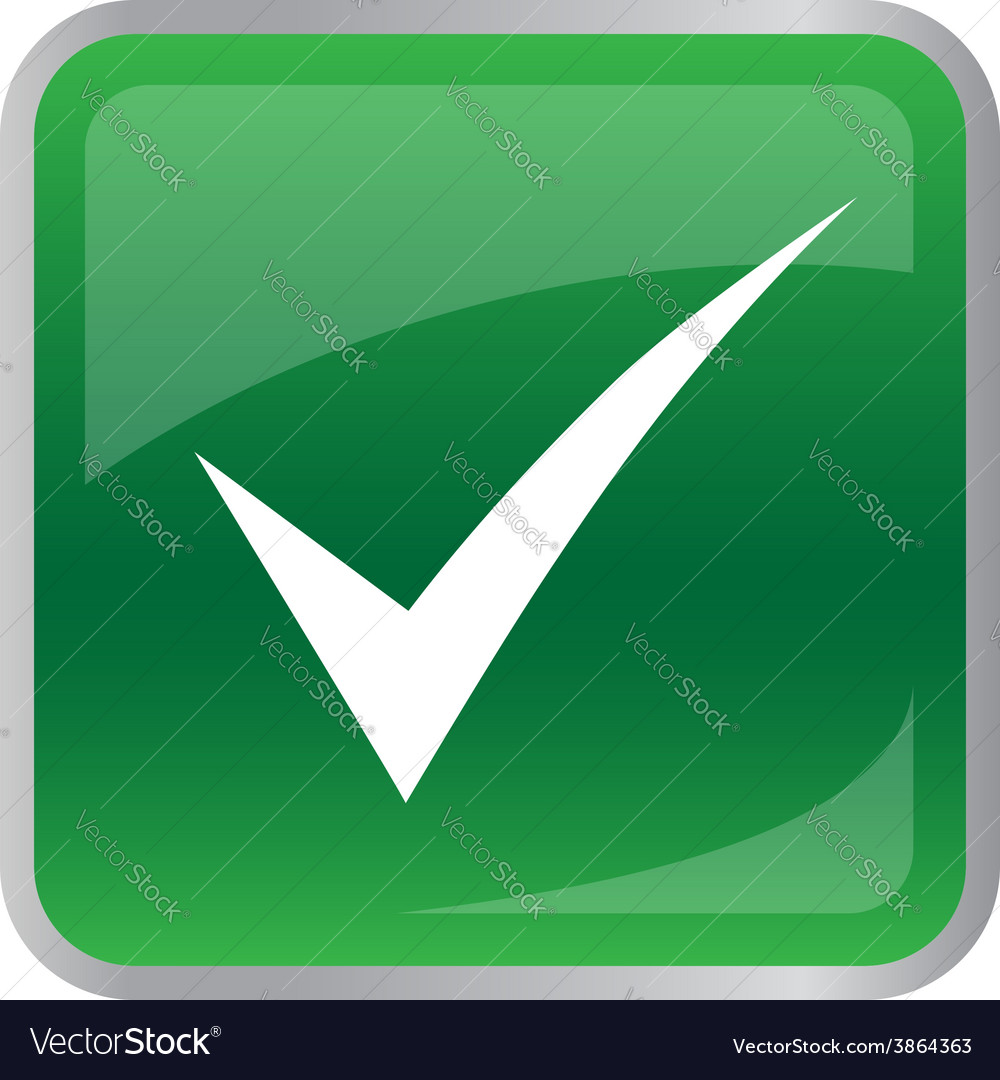 Agree icon on green button