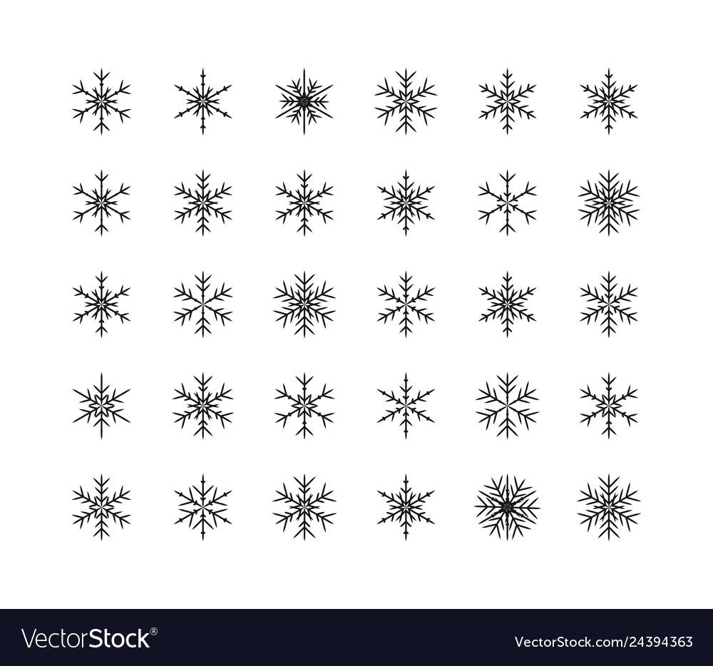 Big set of snowflakes winter christmas xmas