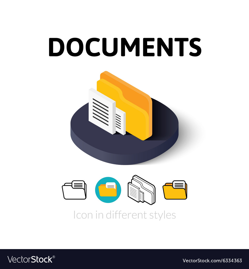 Documents icon in different style