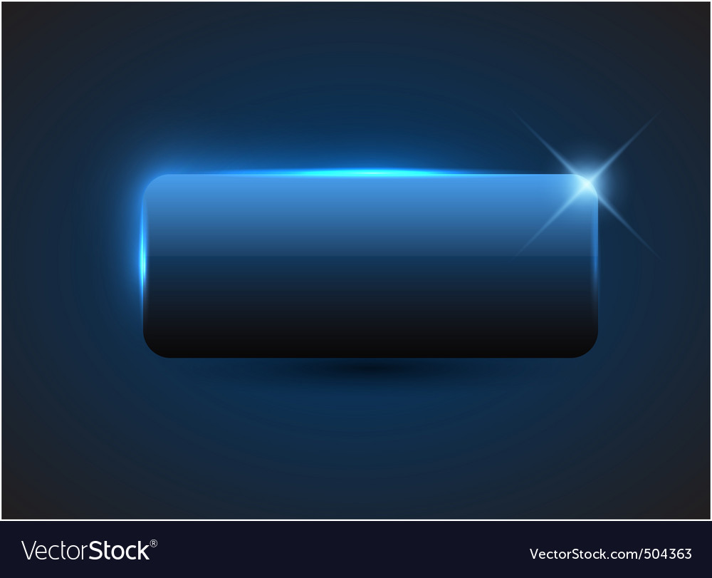 Empty blue button vector image