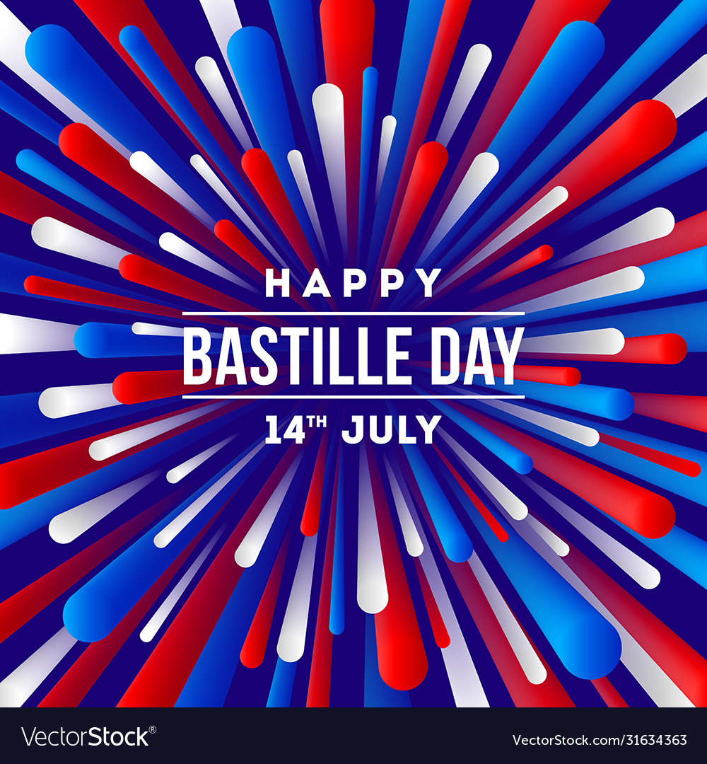 French national holiday - bastille day greeting