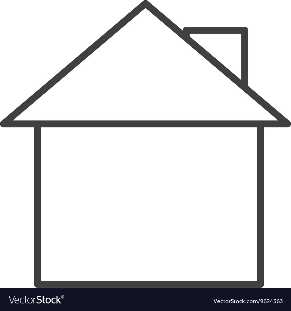 House exterior isolated icon design