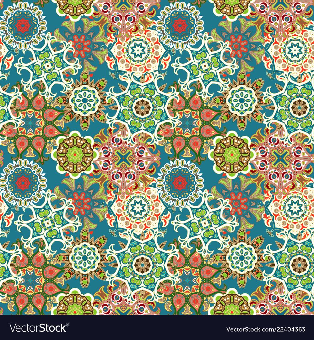 Mandala ethnic motifs seamless pattern