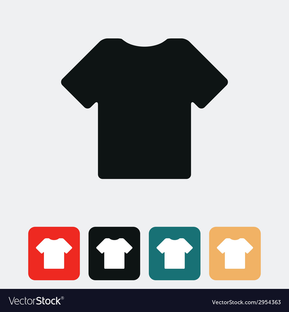 t shirt icon royalty free vector image vectorstock vectorstock