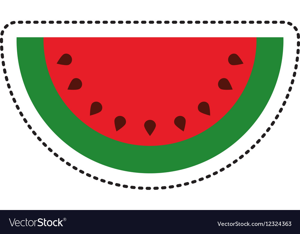 Watermelon Fresh Fruit Drawing Icon Royalty Free Vector