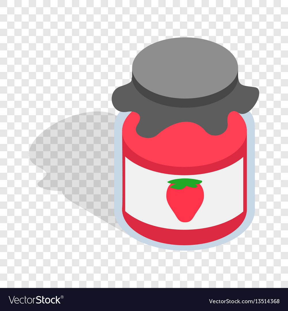 Bank strawberry jam isometric icon