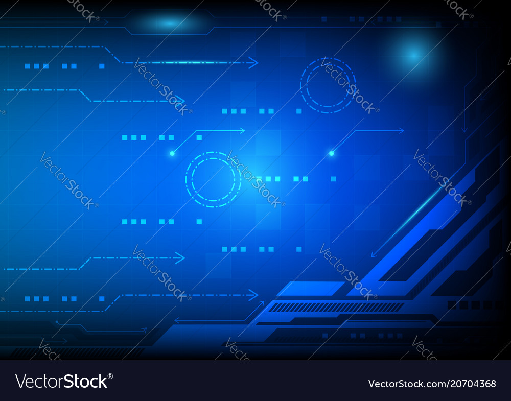 Blue color abstract background digital technology