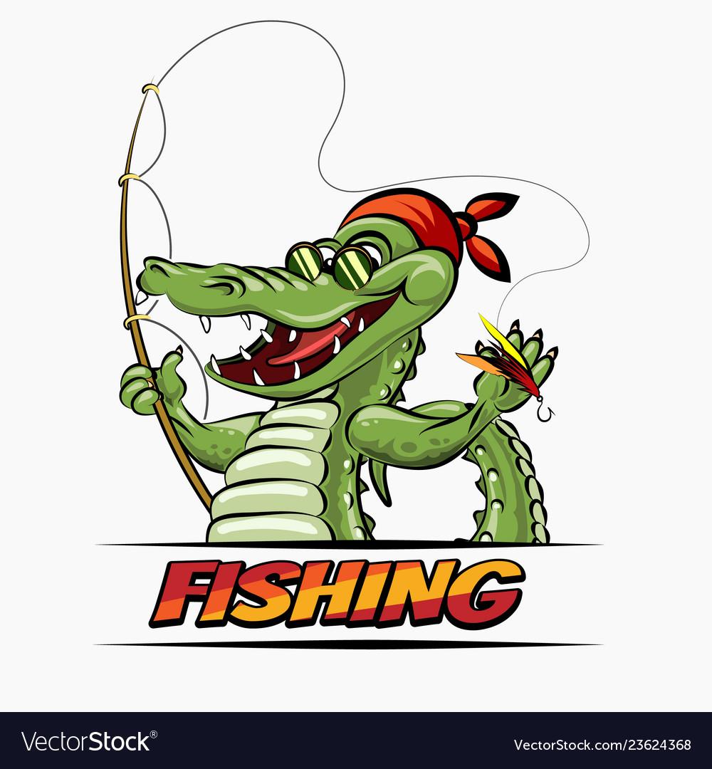 Fishing crocodile