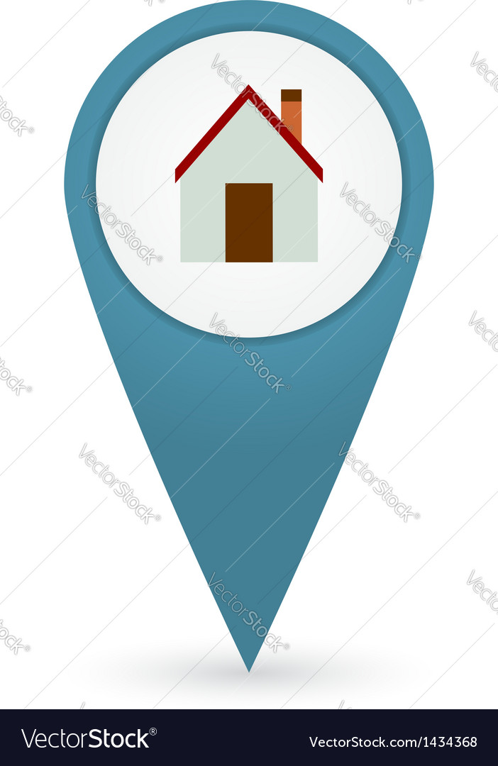 GPS marker with home icon