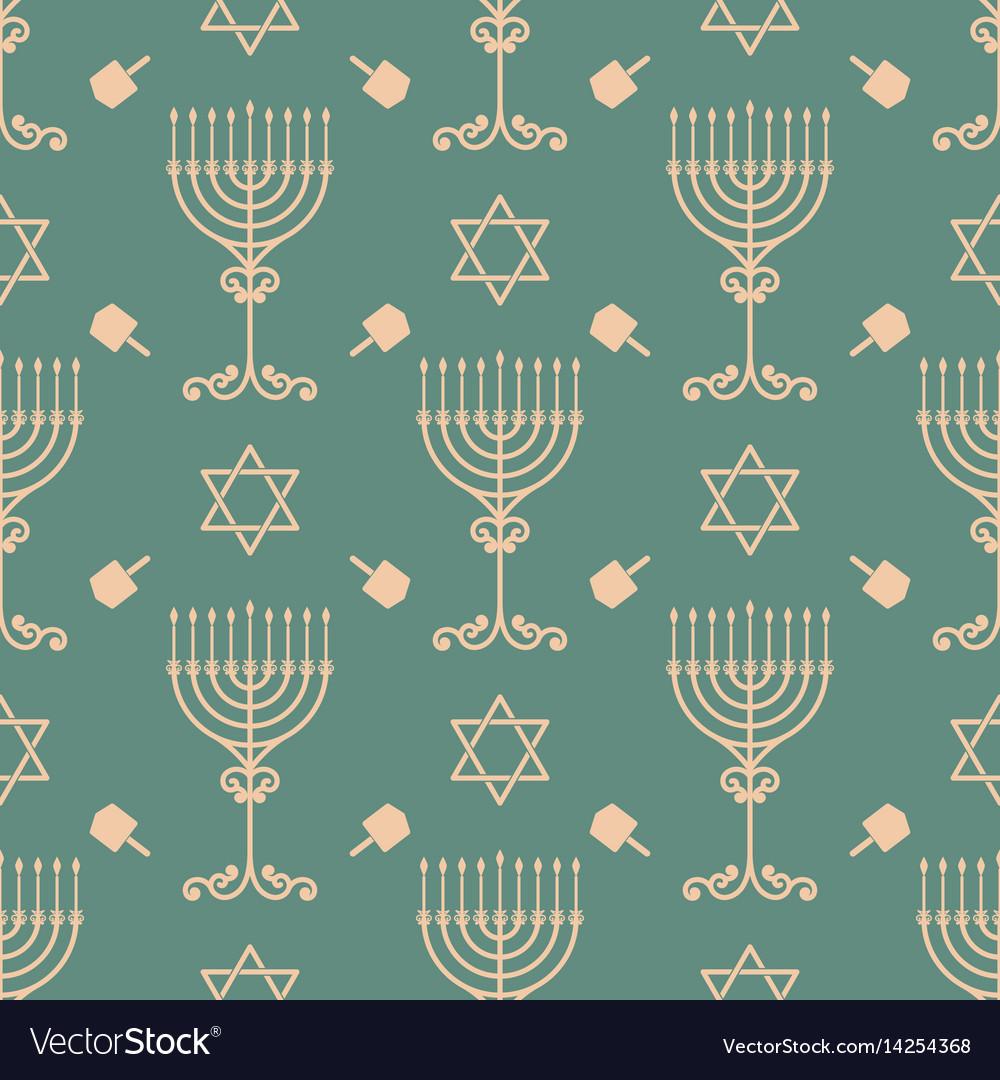 Hanukkah seamless pattern with