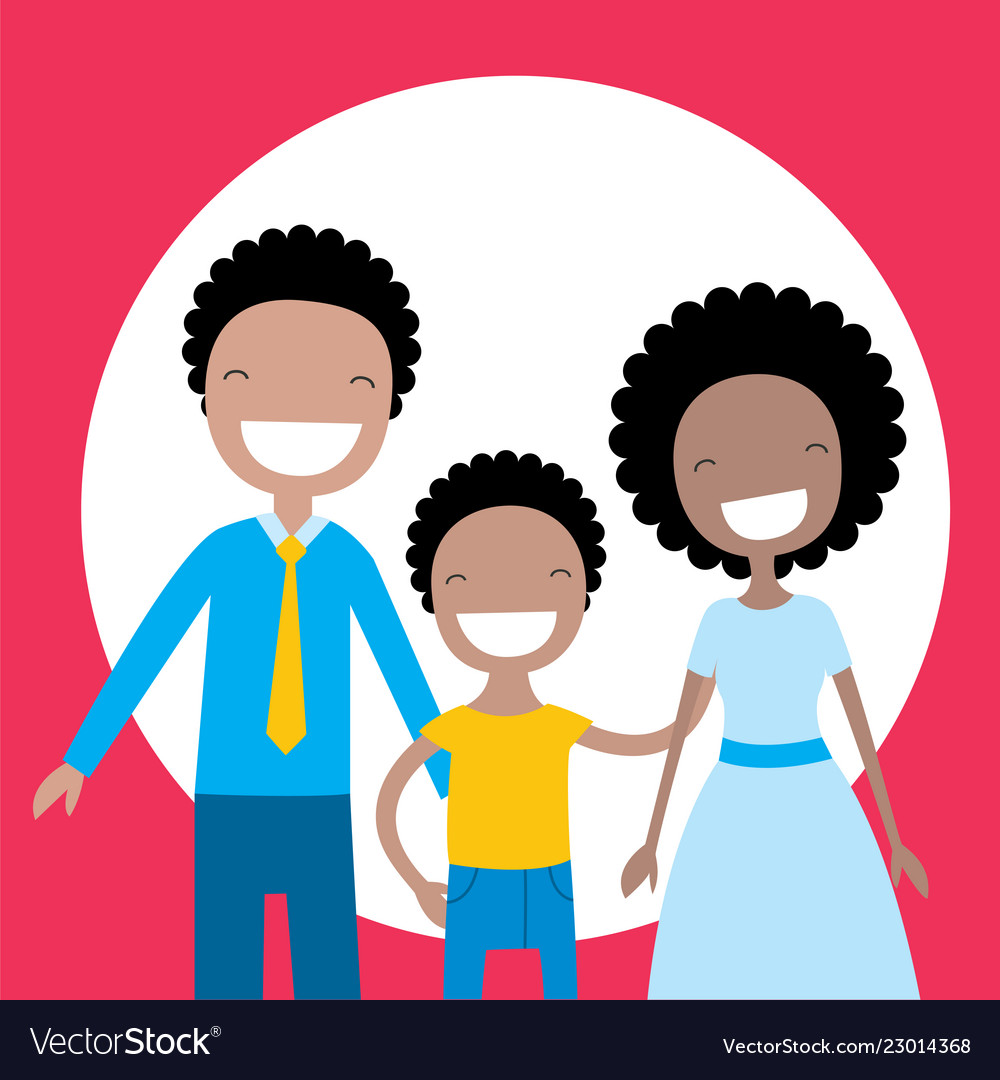 African american family summer vacation travel. Happy african american  family with parents and children travel summer