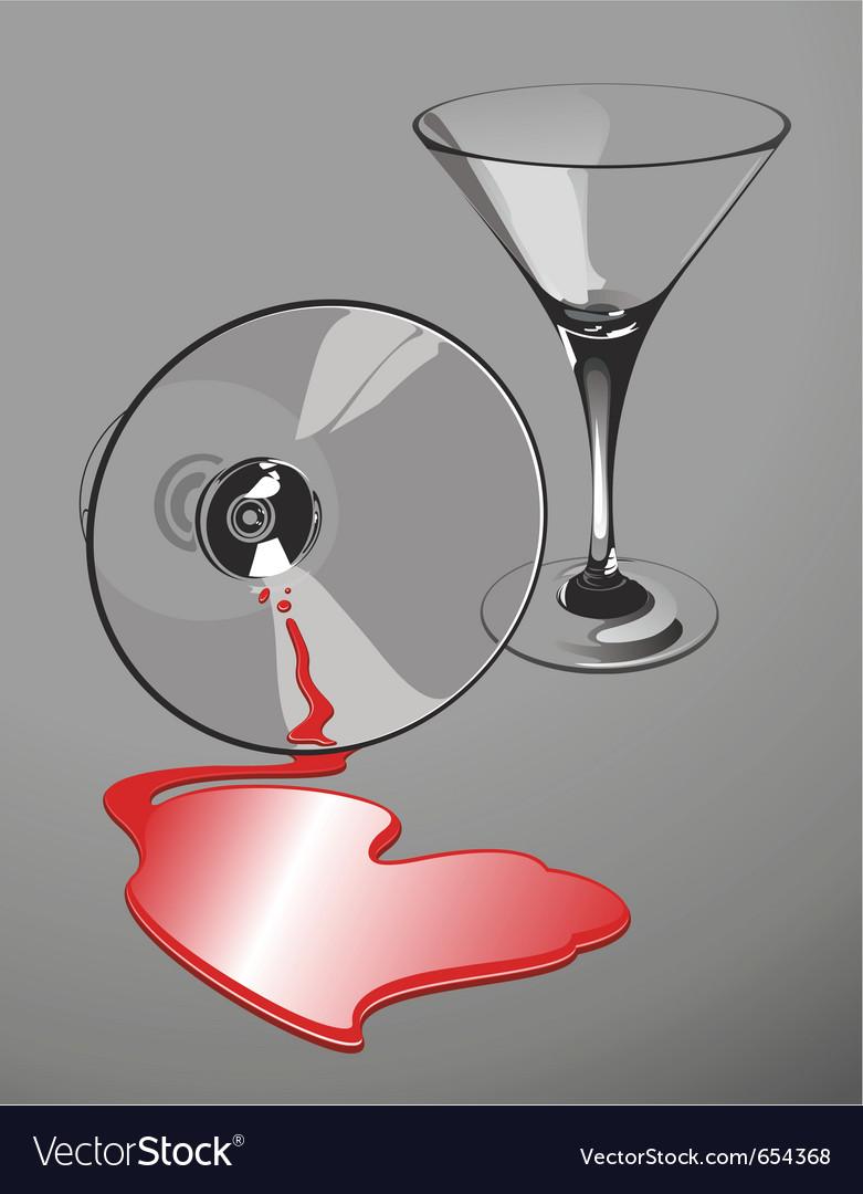 Heart-shaped wine spill
