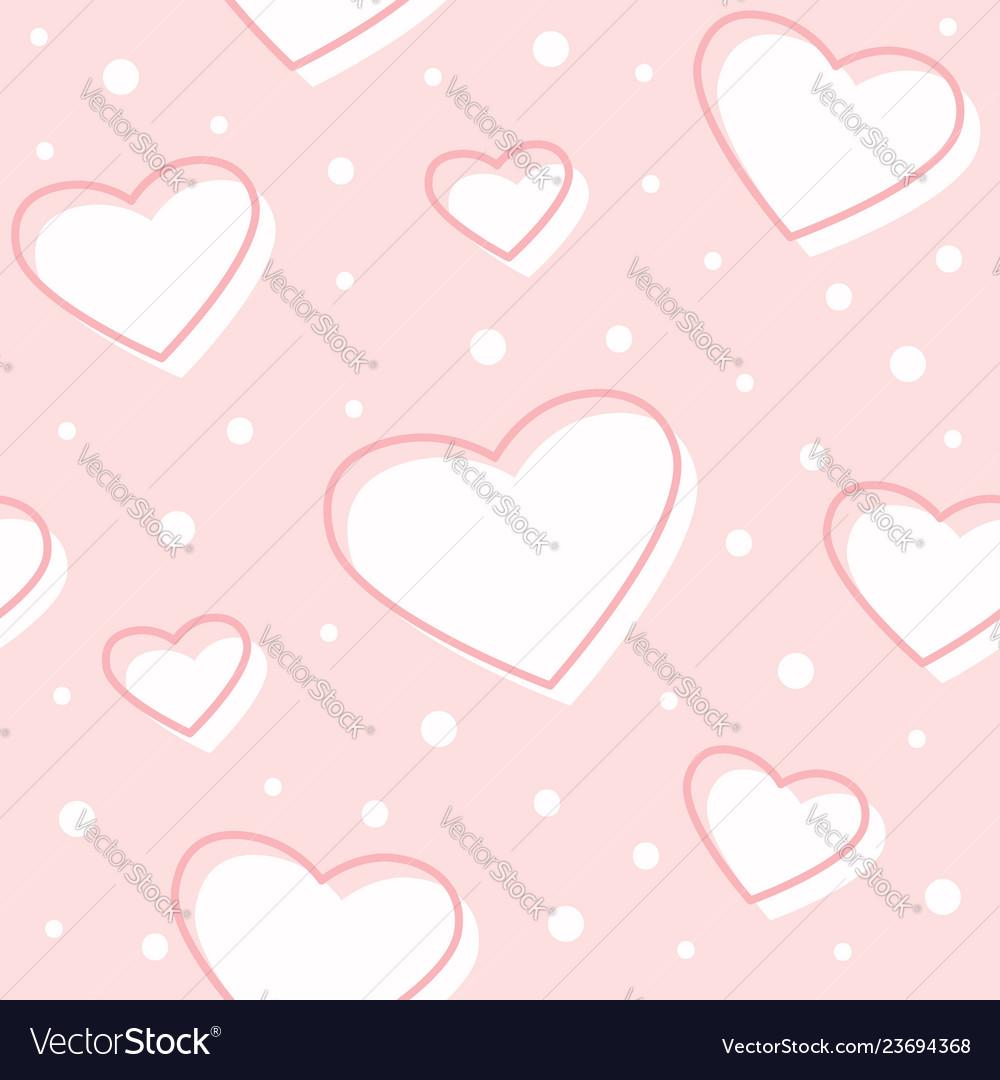 Seamless hearts pink pattern