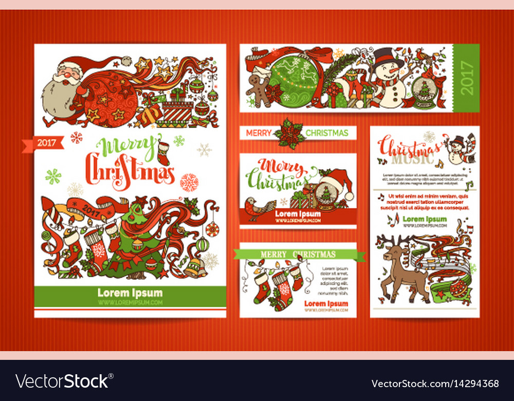 Set of corporate christmas templates