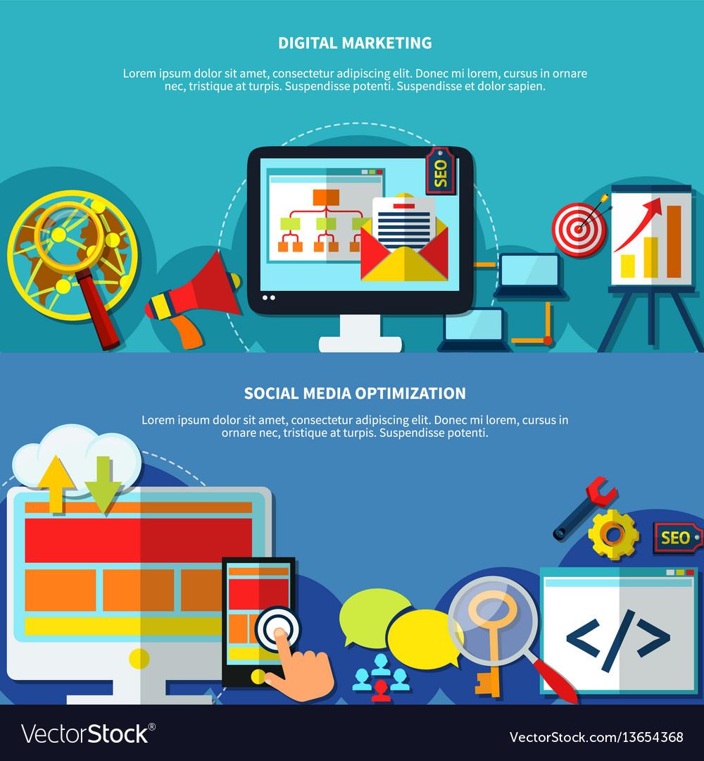 Website promotion banners set vector image