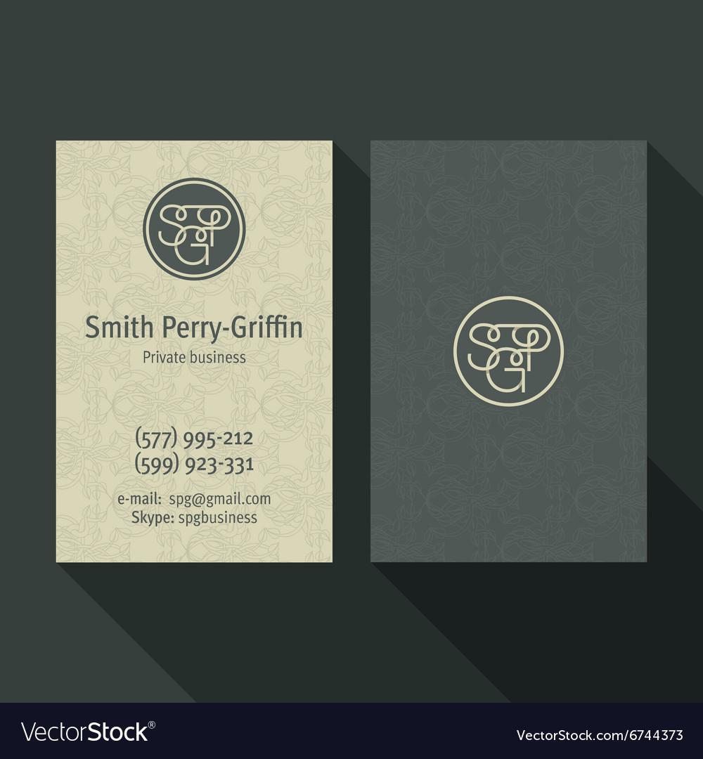 Business card qualitative elegant logo and vector image colourmoves