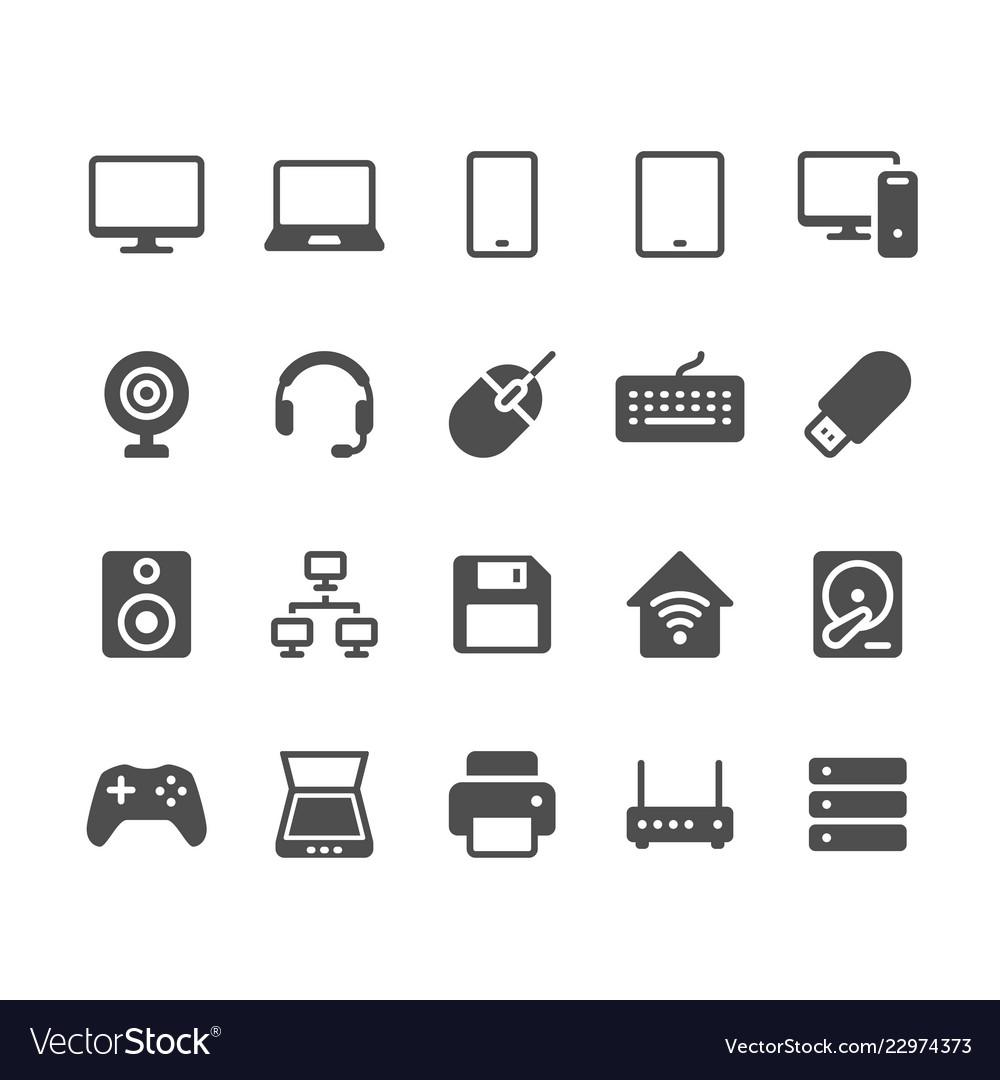 Computer glyph icons