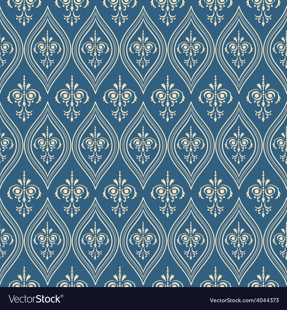 Damascus pattern Seamless vintage background