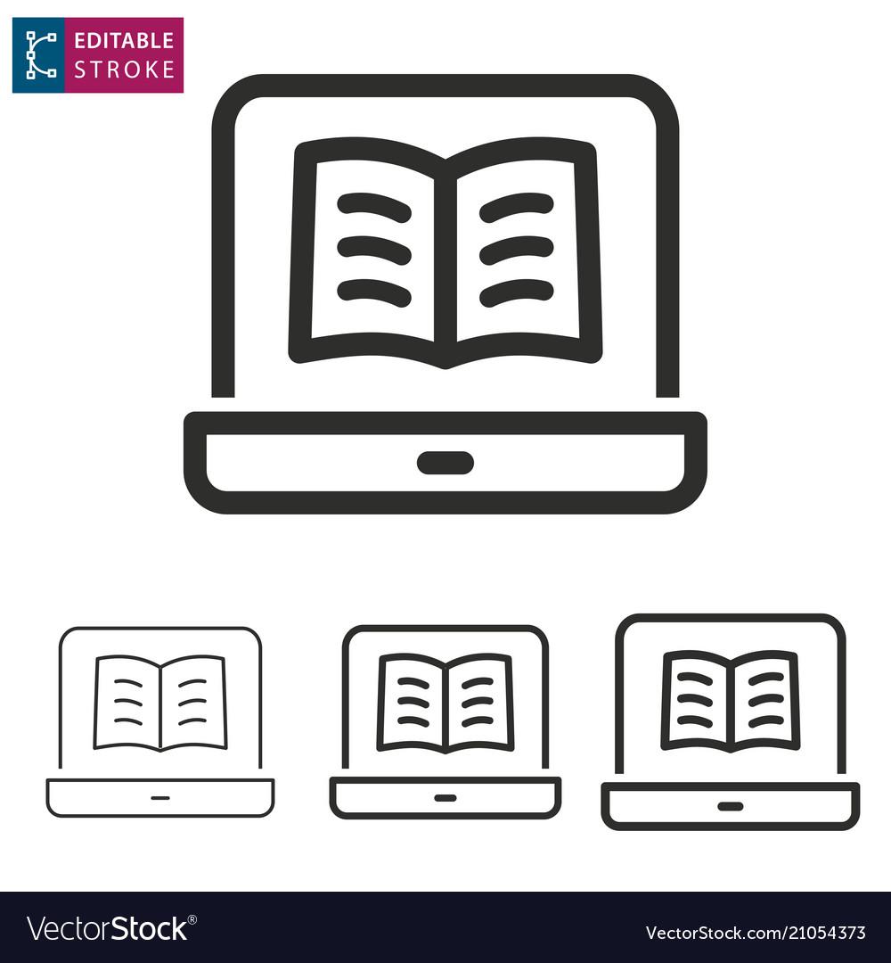 E-learning line icon editable stroke
