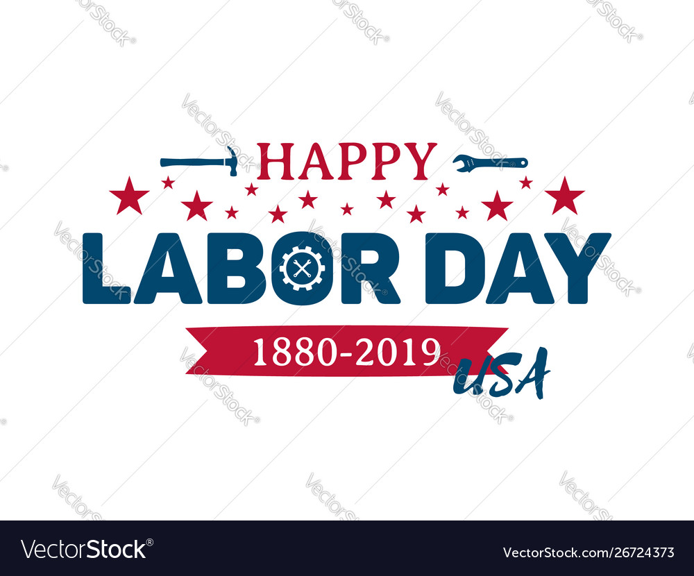 Happy labor day greeting banner national usa