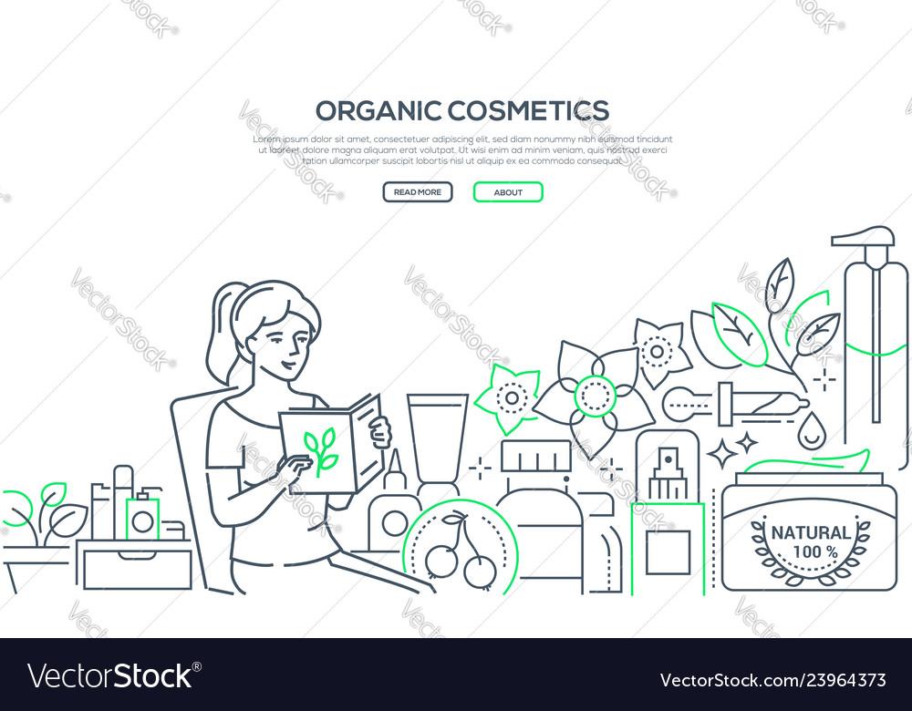 Organic cosmetics- modern line design style web