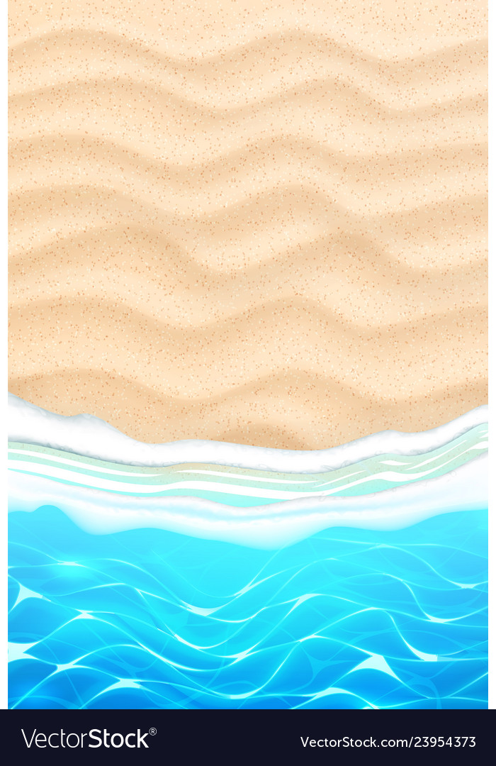 Seaside beach azure waves sand coast