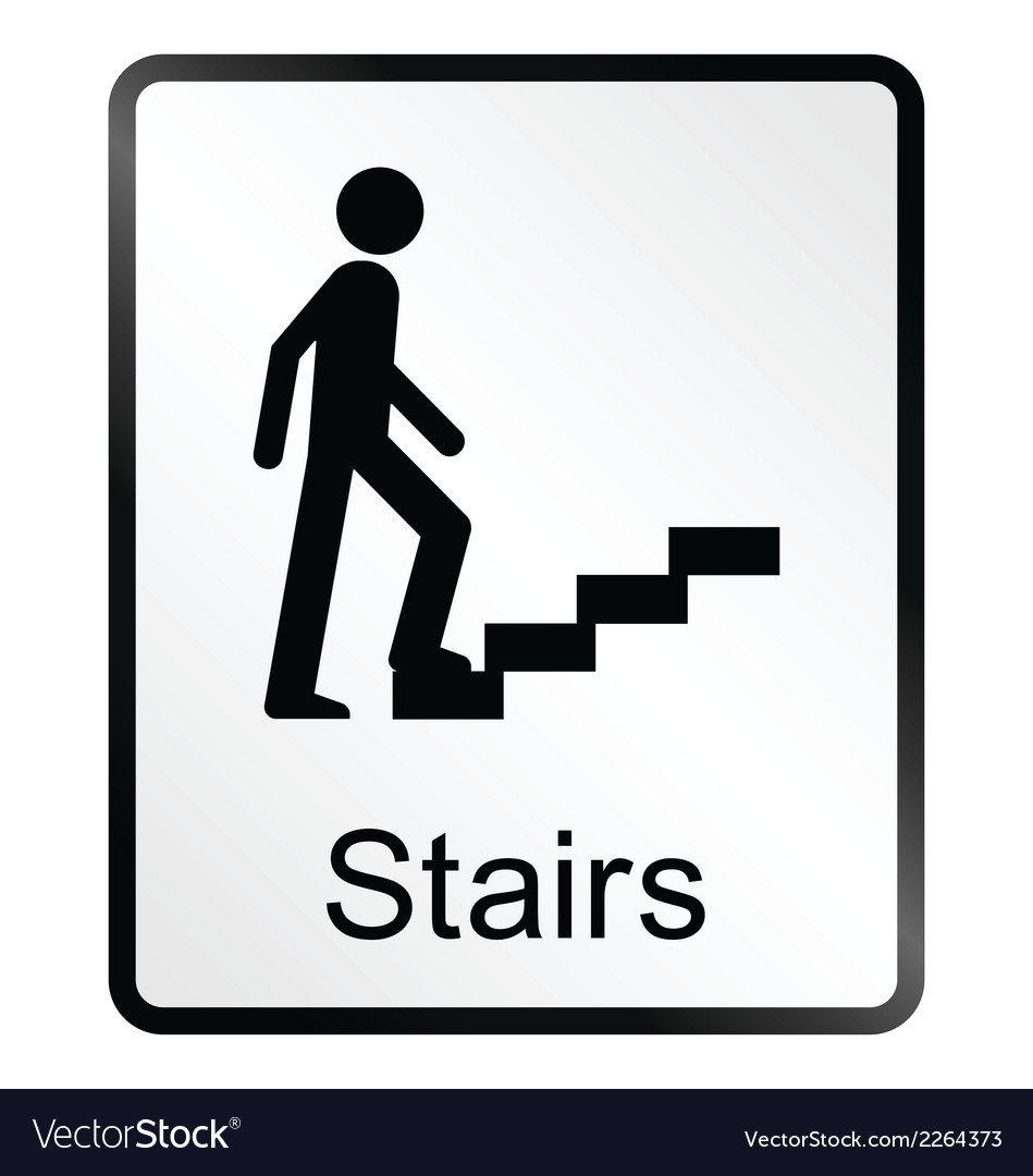 Merveilleux Stairs Information Sign Vector Image