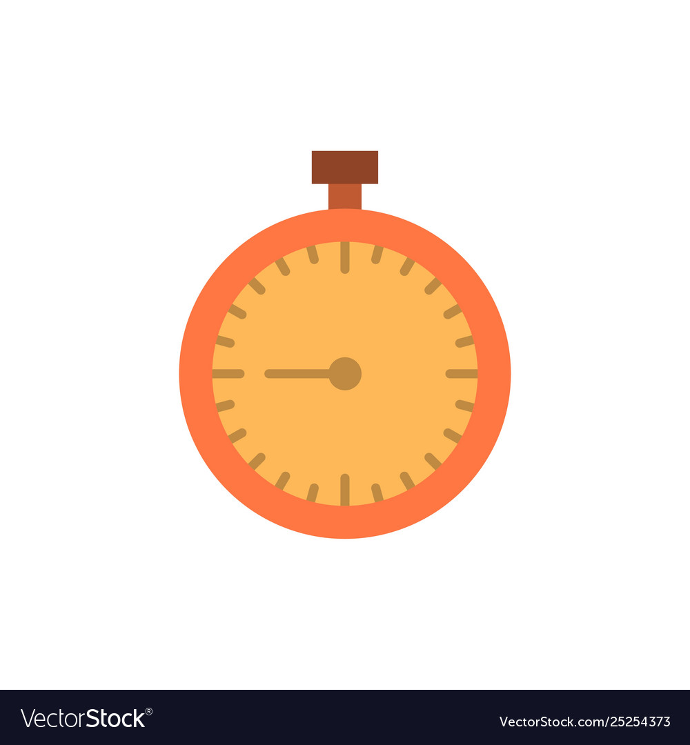 Stopwatch clock fast quick time timer watch flat