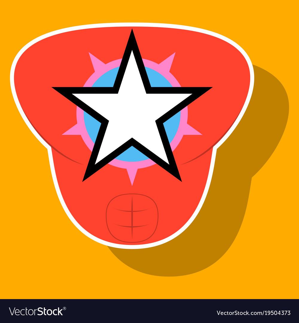 Superhero color sticker badges emblems logos