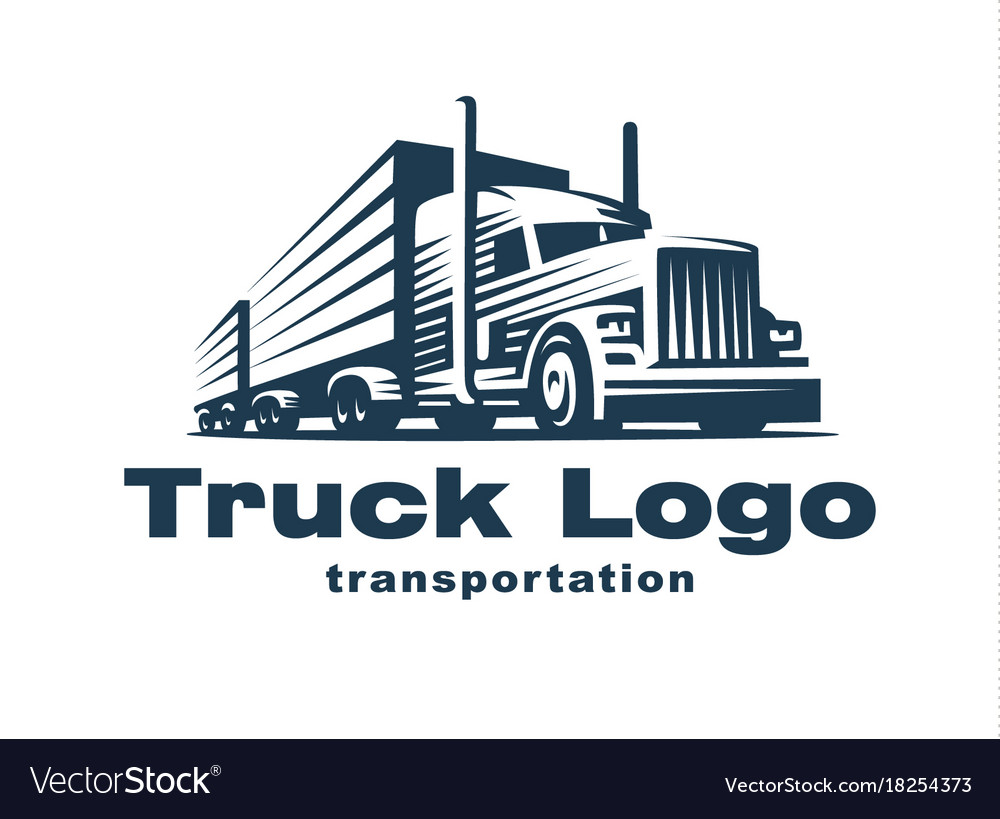 trucking company logos  Truck logo on white background Royalty Free Vector Image