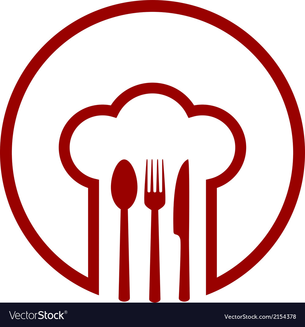 Abstract icon with chef hat