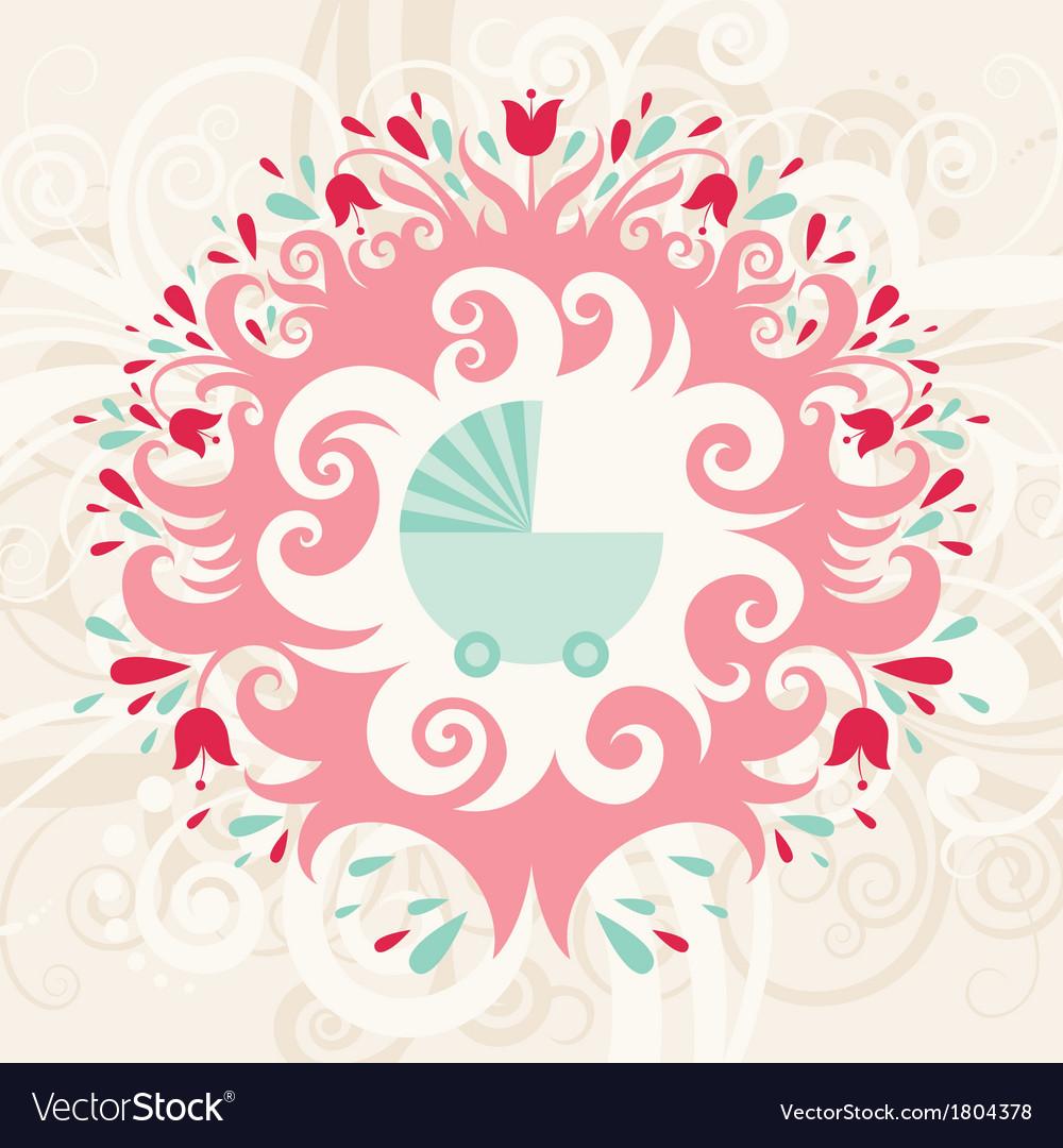 Baby birthday card