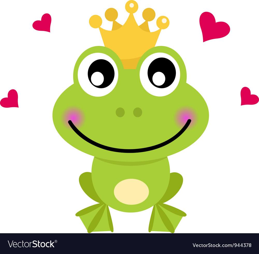 Frog prince Royalty Free Vector Image VectorStock