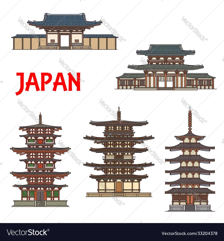 Japanese temples shrines and pagodas ikaruga nara