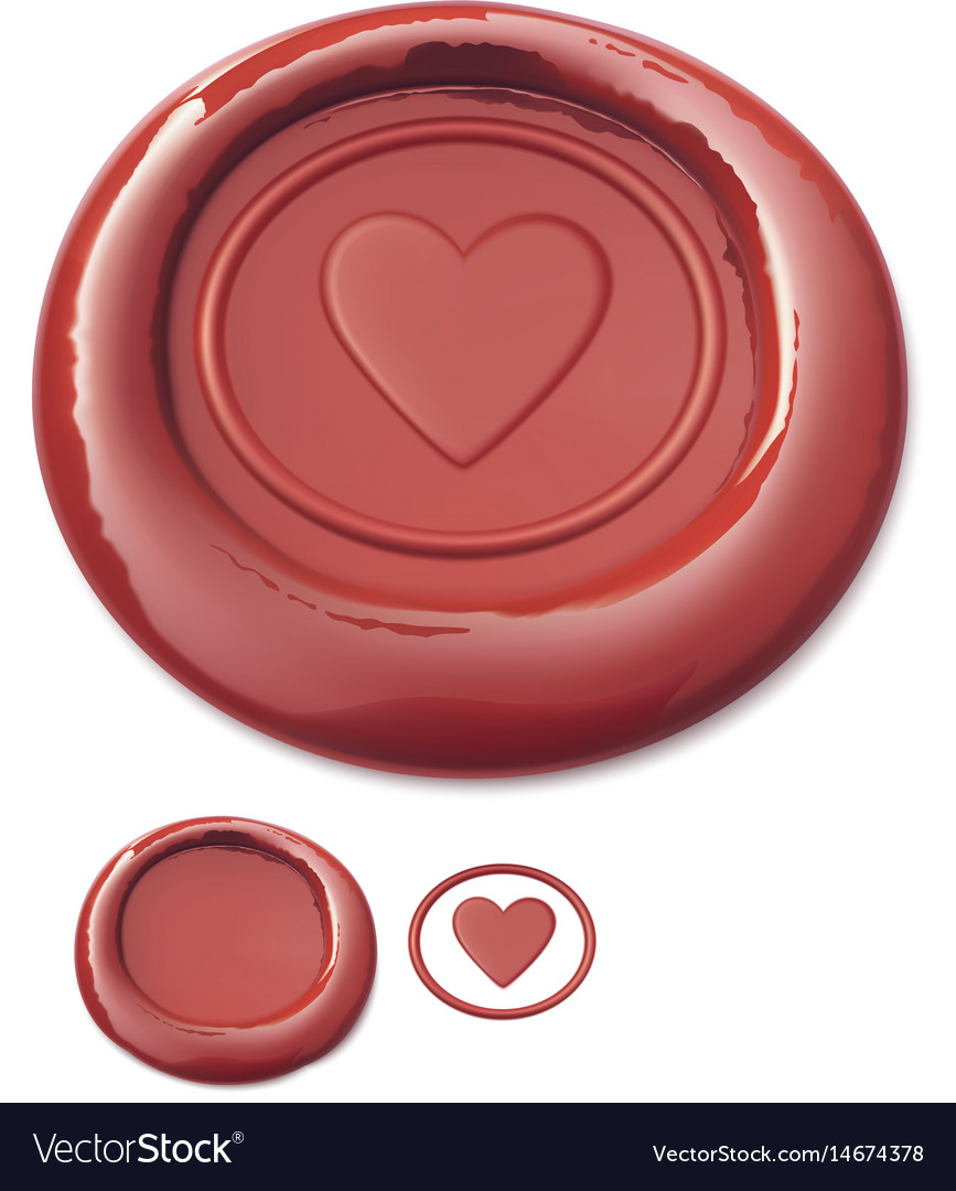 Red wax seal vector image