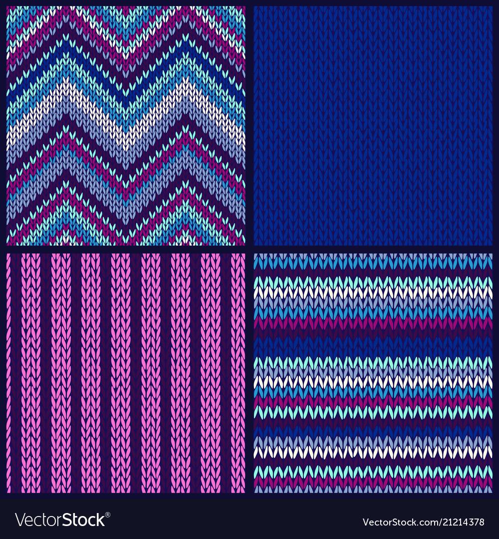Seamless knitted pattern set