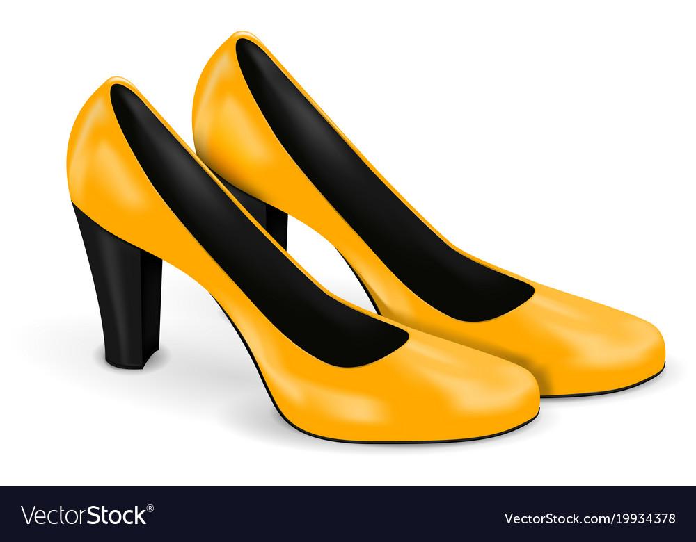 ea2fda0de67 Yellow high heels women shoes