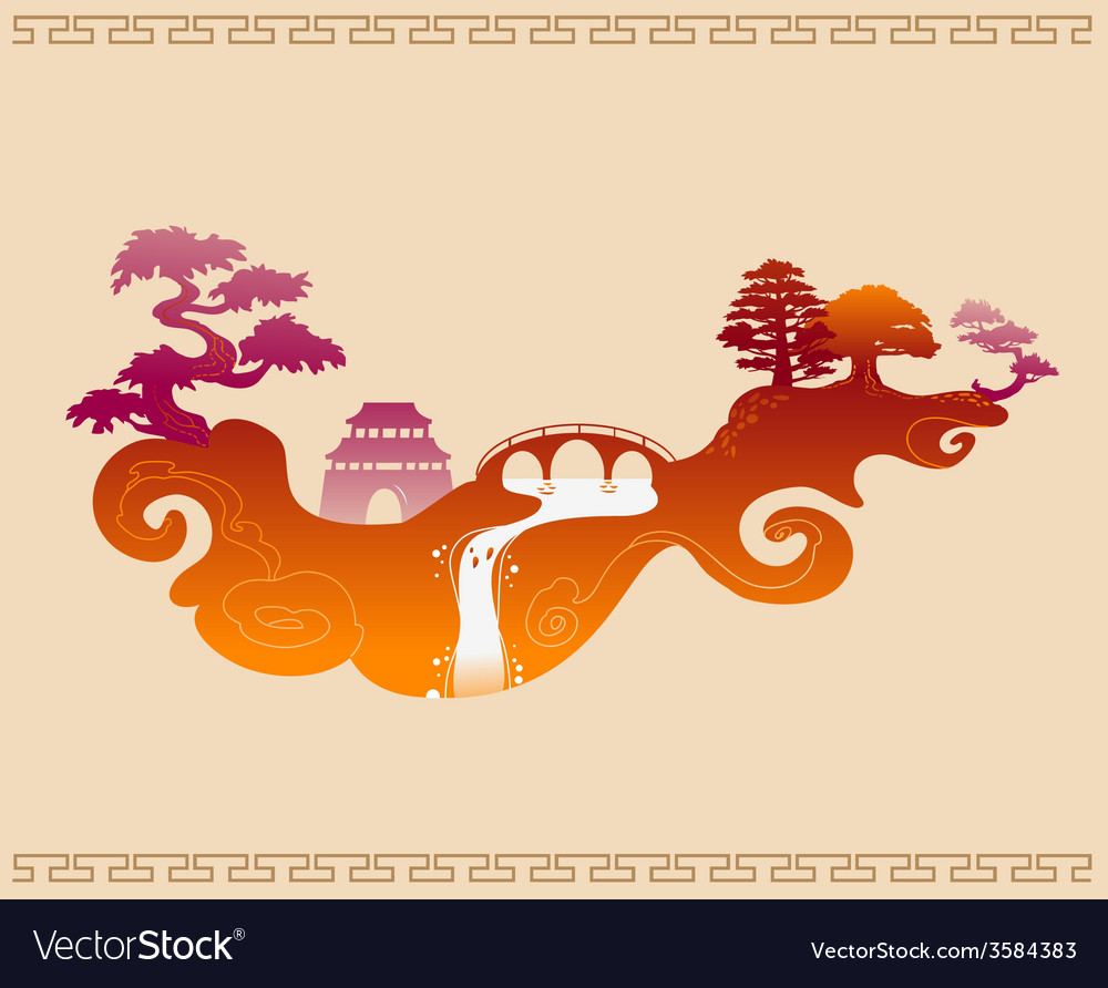 Abstract Decorative Chinese Background