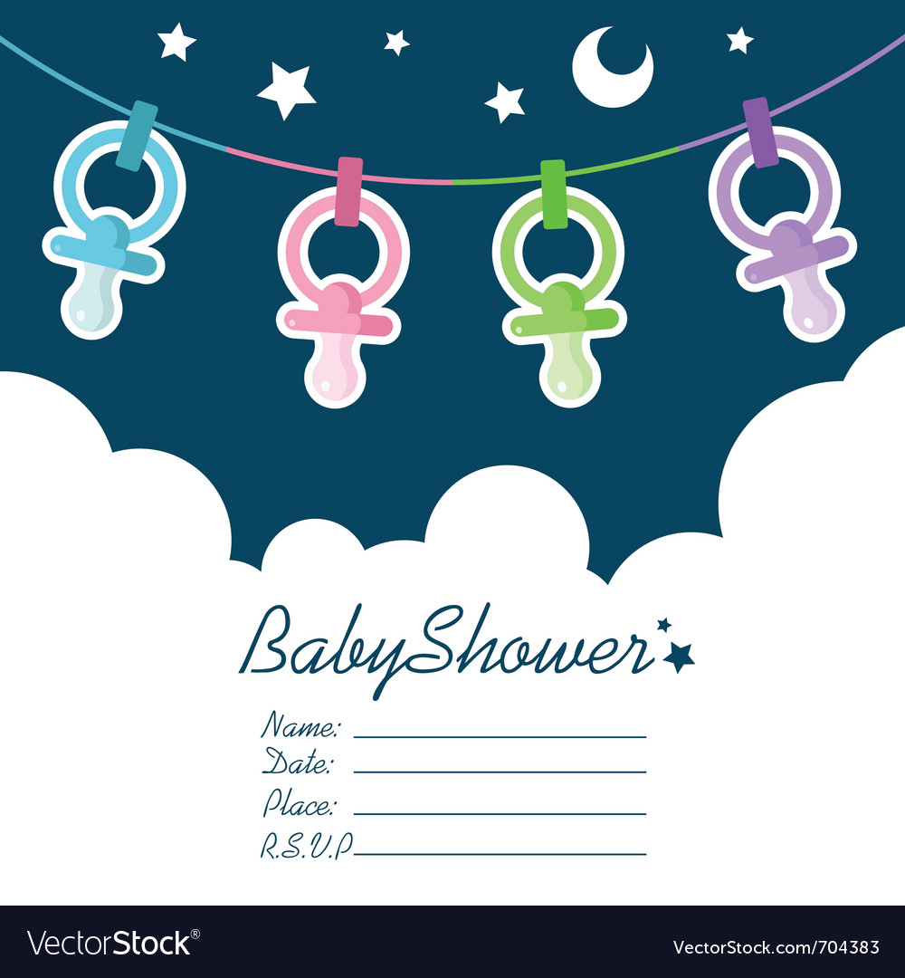 Baby shower invitation royalty free vector image baby shower invitation vector image stopboris Image collections