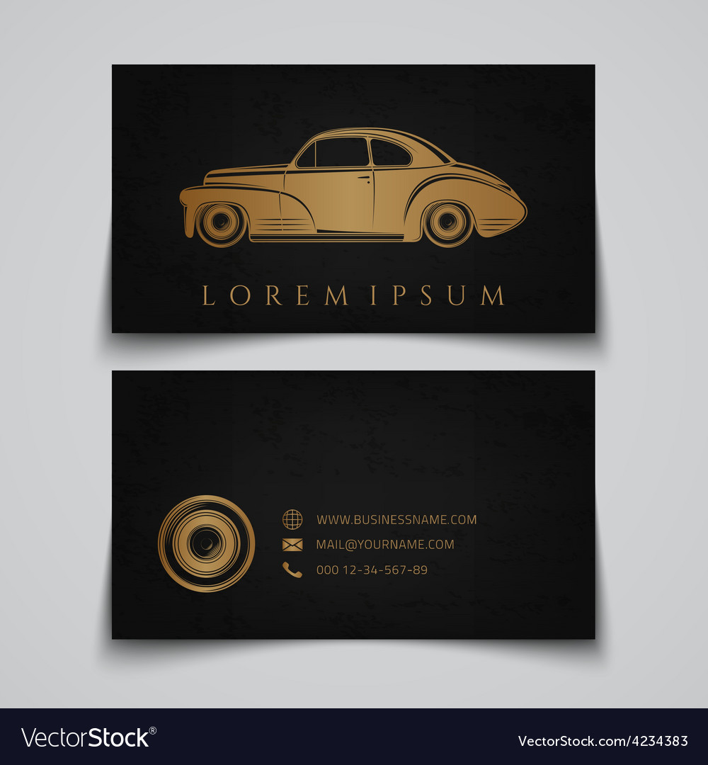 Business card template classic car logo royalty free vector business card template classic car logo vector image friedricerecipe Images