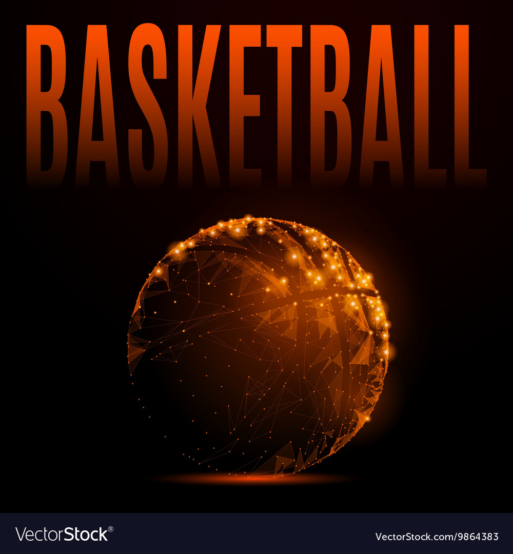 Fire basketball ball