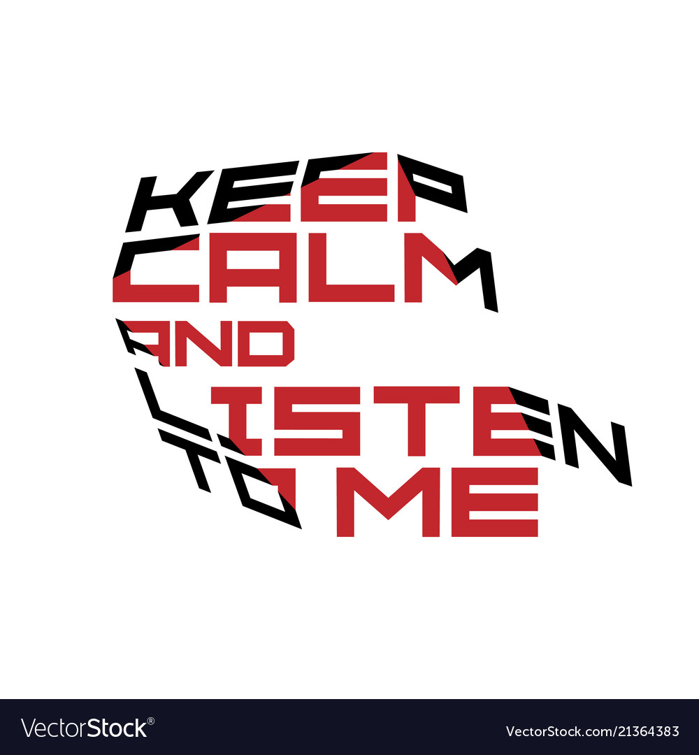 Keep calm motivation quote red and black colors