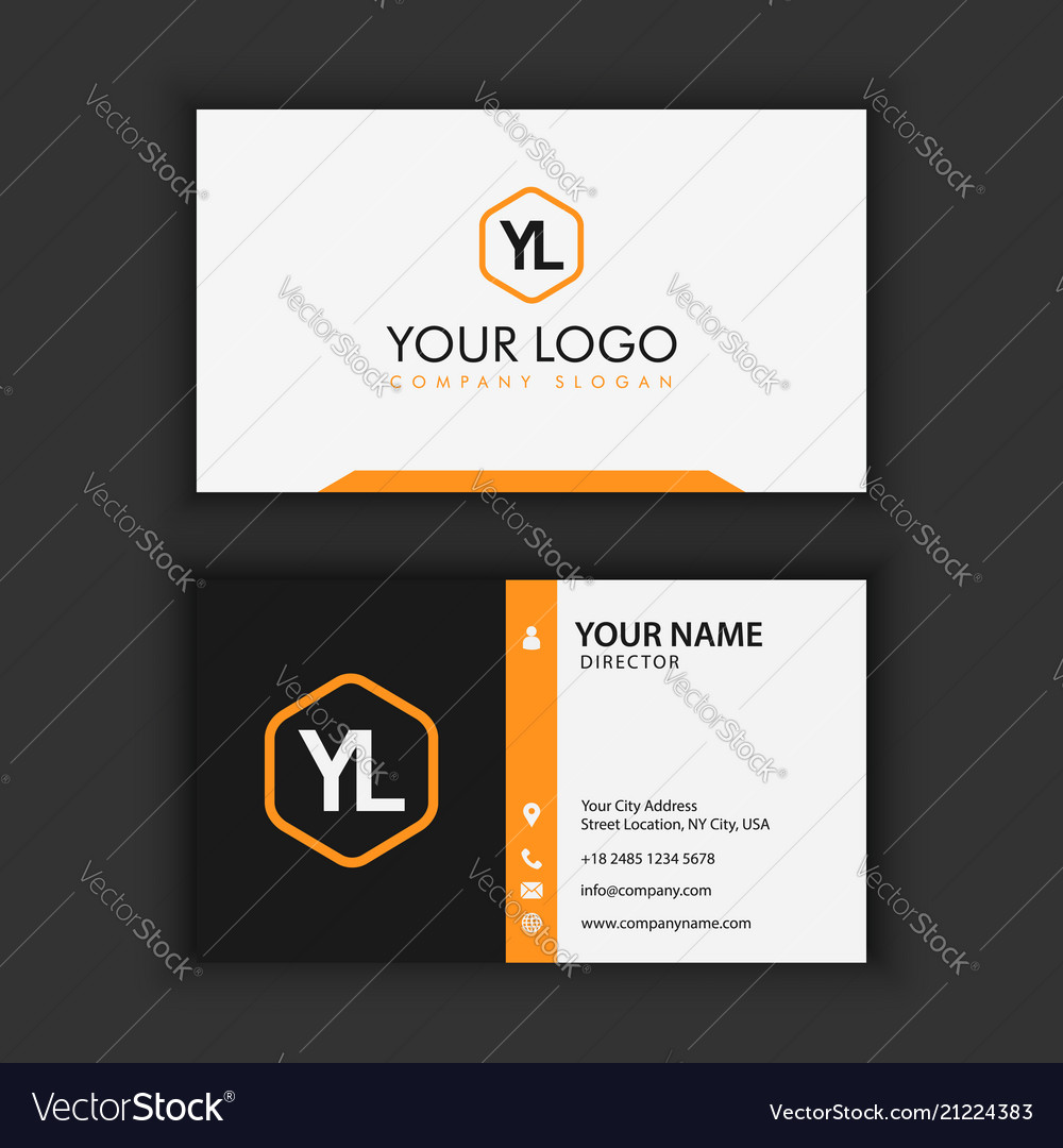 Modern creative and clean business card template vector image cheaphphosting Image collections
